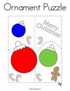 Ornament Puzzle Coloring Page