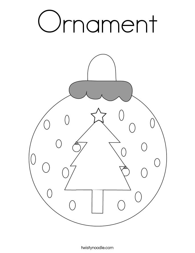 Christmas Ornaments Color Pages Part - 30: Ornament Coloring Page.