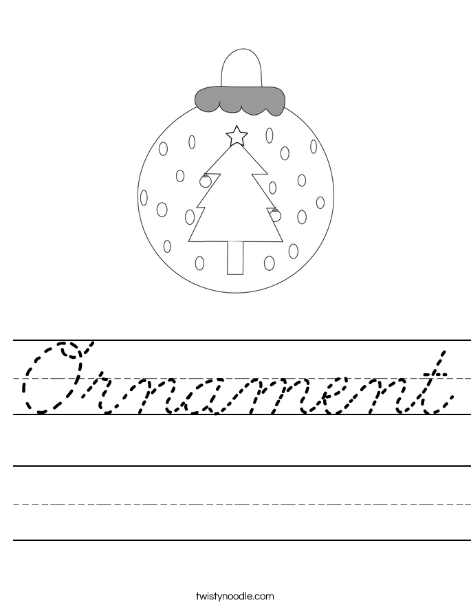 Ornament Worksheet