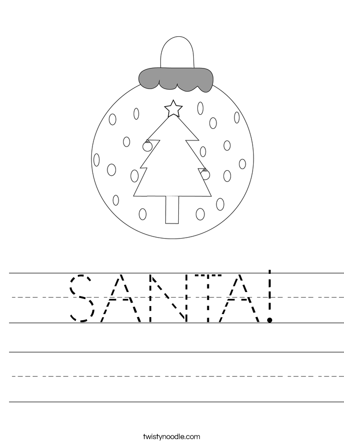 SANTA! Worksheet