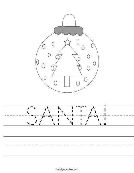 Ornament Worksheet
