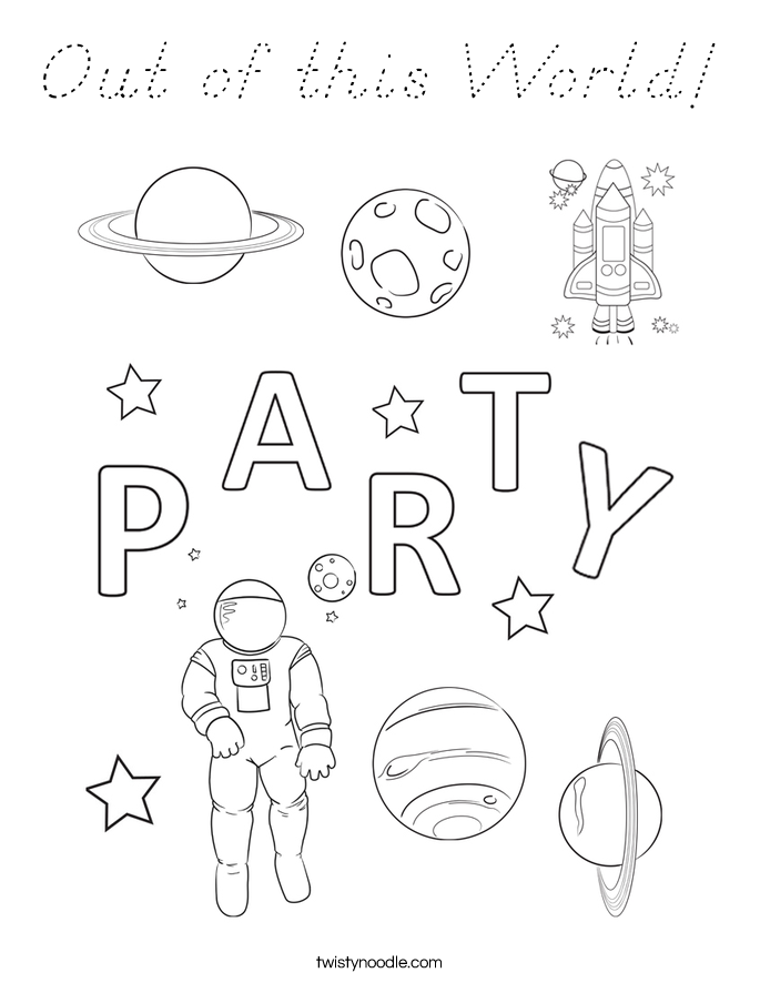 Out of this World! Coloring Page