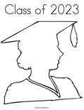 Class of 2023 Coloring Page
