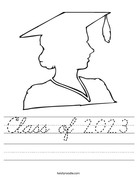 Outline of a Girl Graduate Worksheet