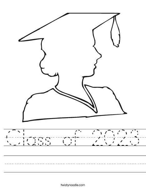 Outline of a Girl Graduate Worksheet