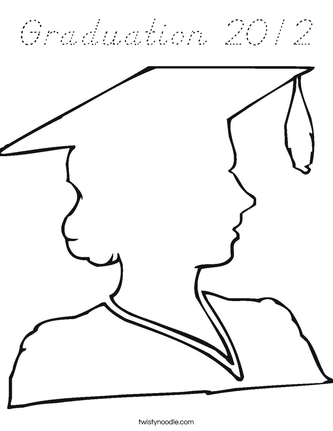Graduation 2012 Coloring Page