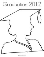 Graduation 2012 Coloring Page
