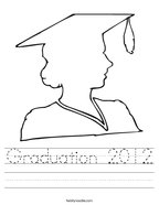 Graduation 2012 Handwriting Sheet