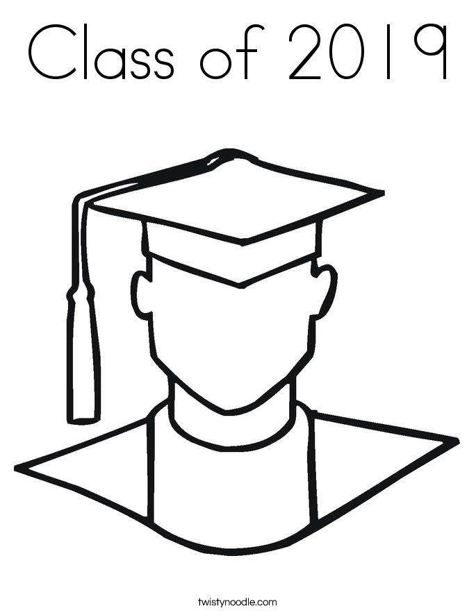 Class of 2019 Coloring Page