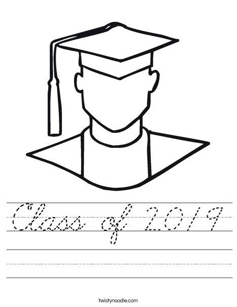 Outline of Boy Graduate Worksheet