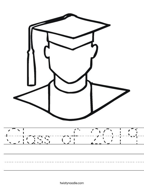 Outline of Boy Graduate Worksheet