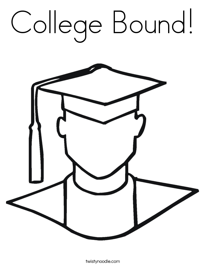 College Bound Coloring Page