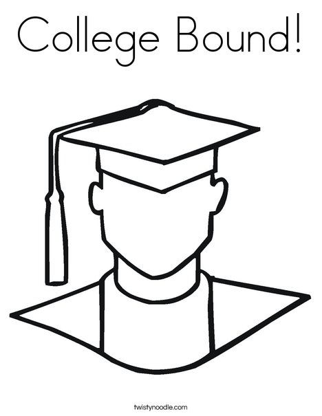 Outline of Boy Graduate Coloring Page