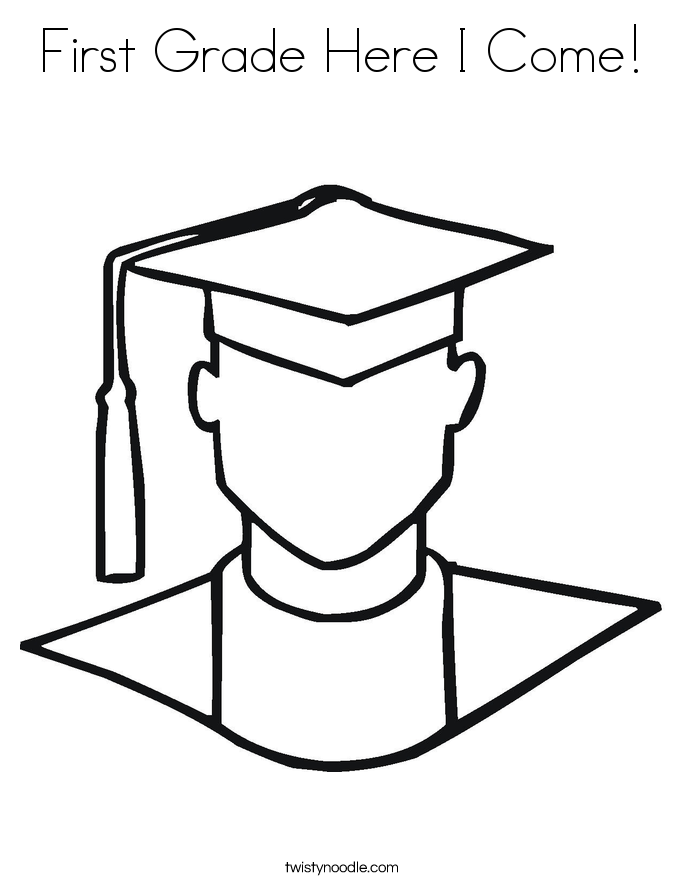 First Grade Coloring Page - kaseyand.co