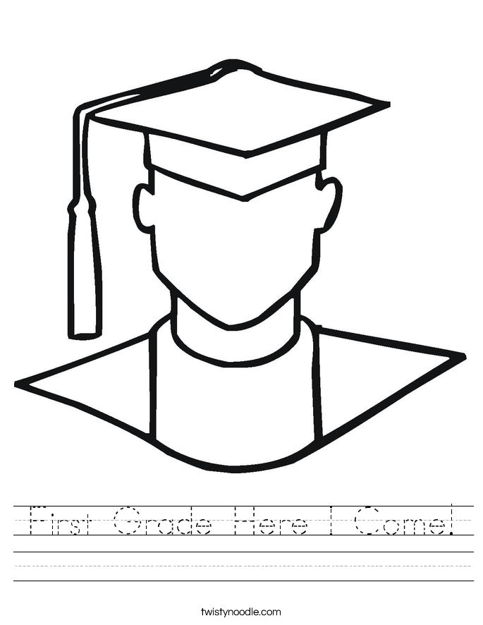 First Grade Here I Come! Worksheet