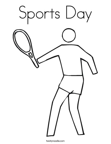 Outline tennis player Coloring Page