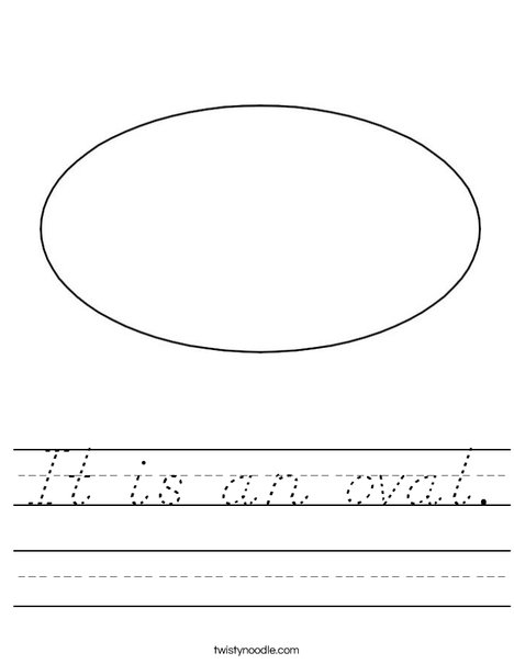 Oval 1 Worksheet