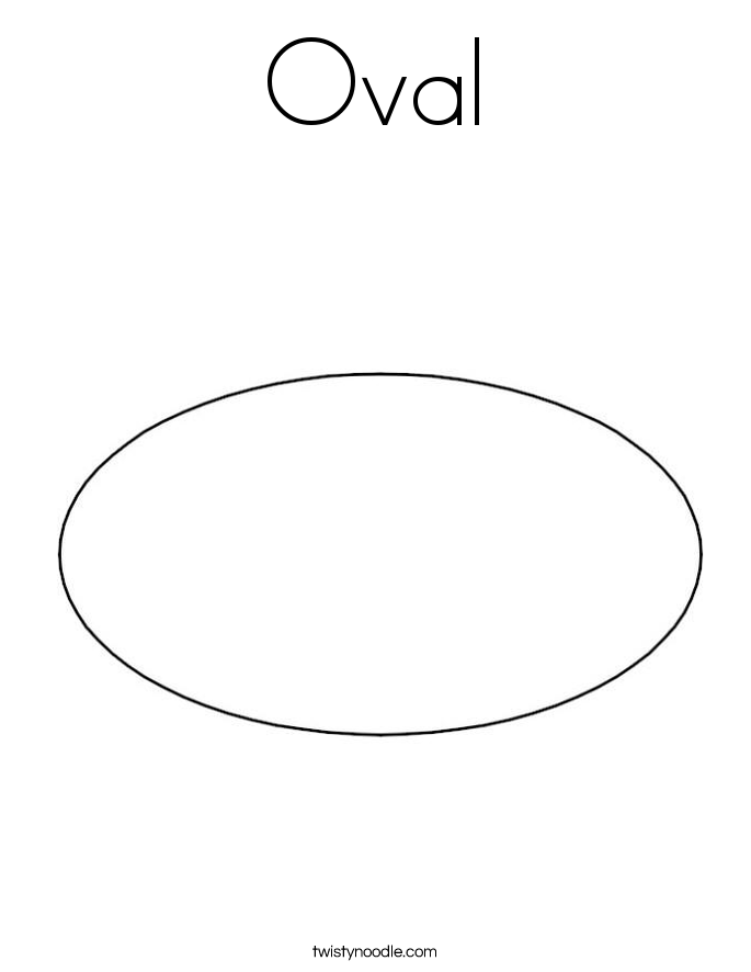 Free Coloring Pages Of Oval Shape Oval Coloring Page