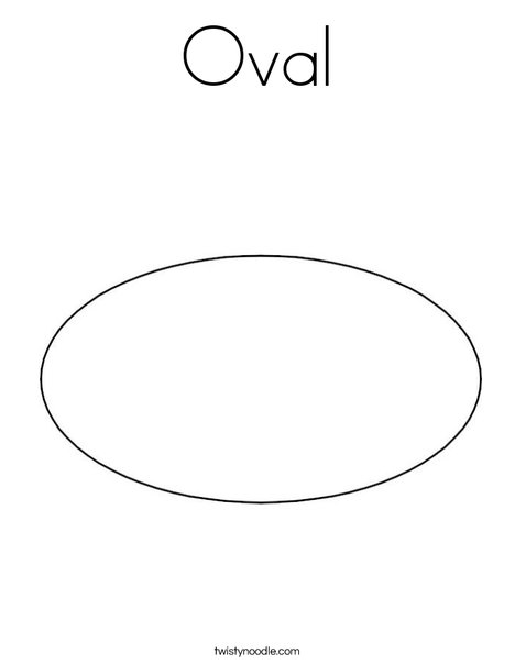 Oval Coloring Page Twisty Noodle Oval Coloring Page