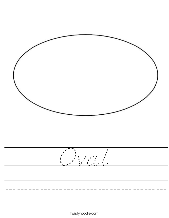 Oval Worksheet