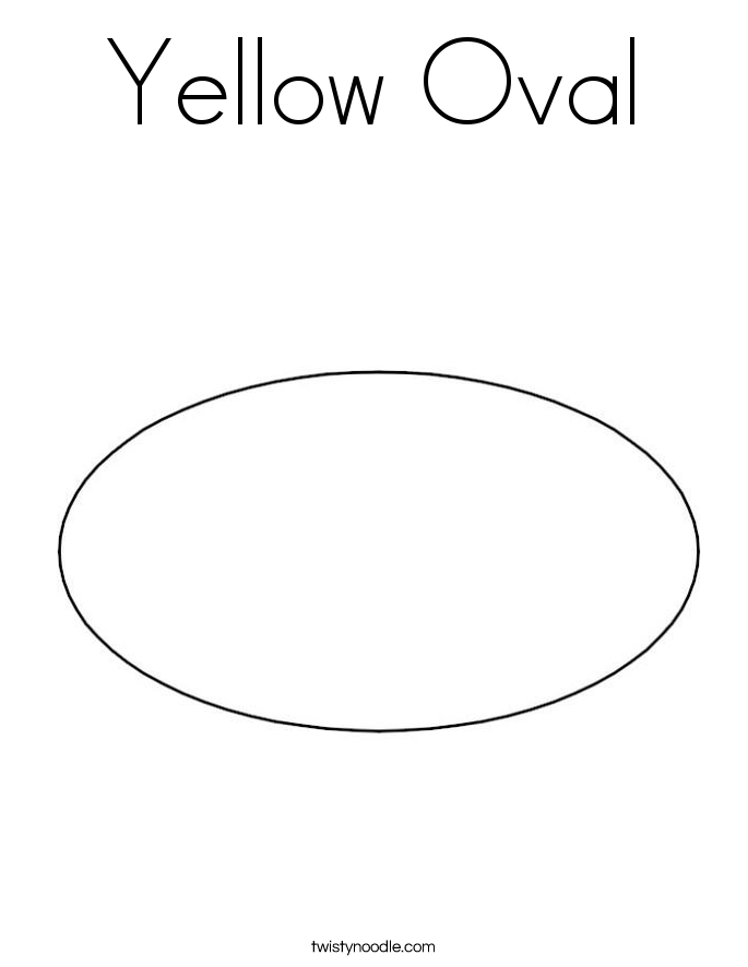 Charmant Yellow Oval Coloring Page.