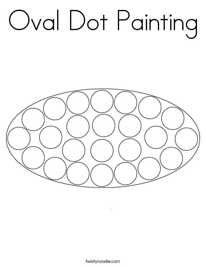 Oval Dot Painting Coloring Page