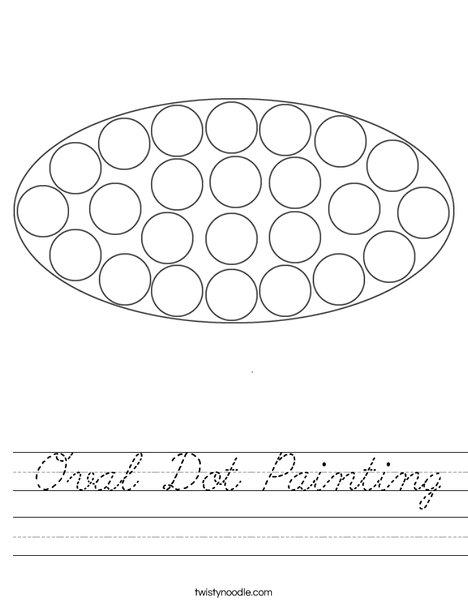 Oval Dot Painting Worksheet