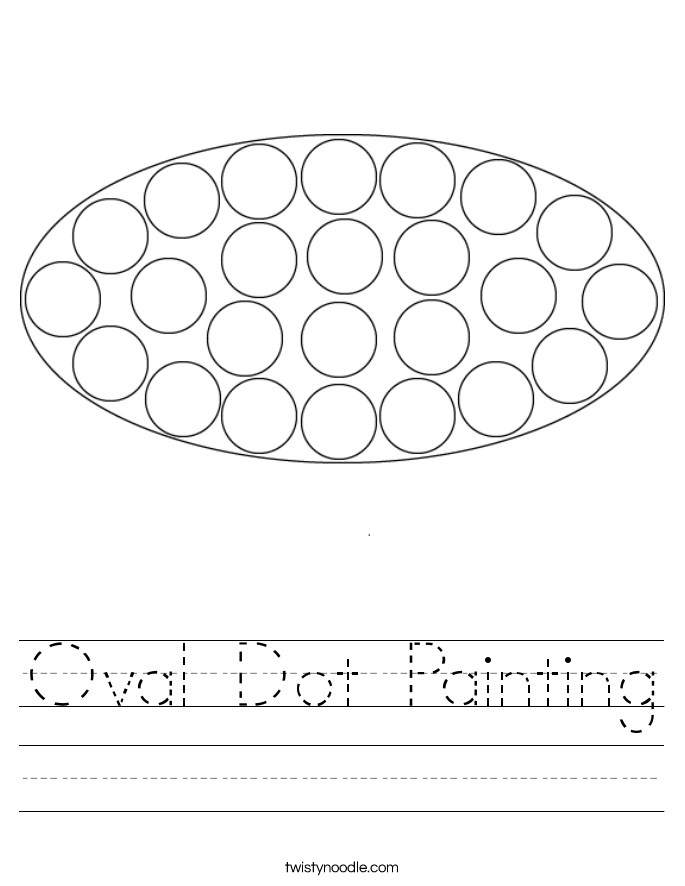 Oval Dot Painting Worksheet