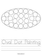 Oval Dot Painting Handwriting Sheet