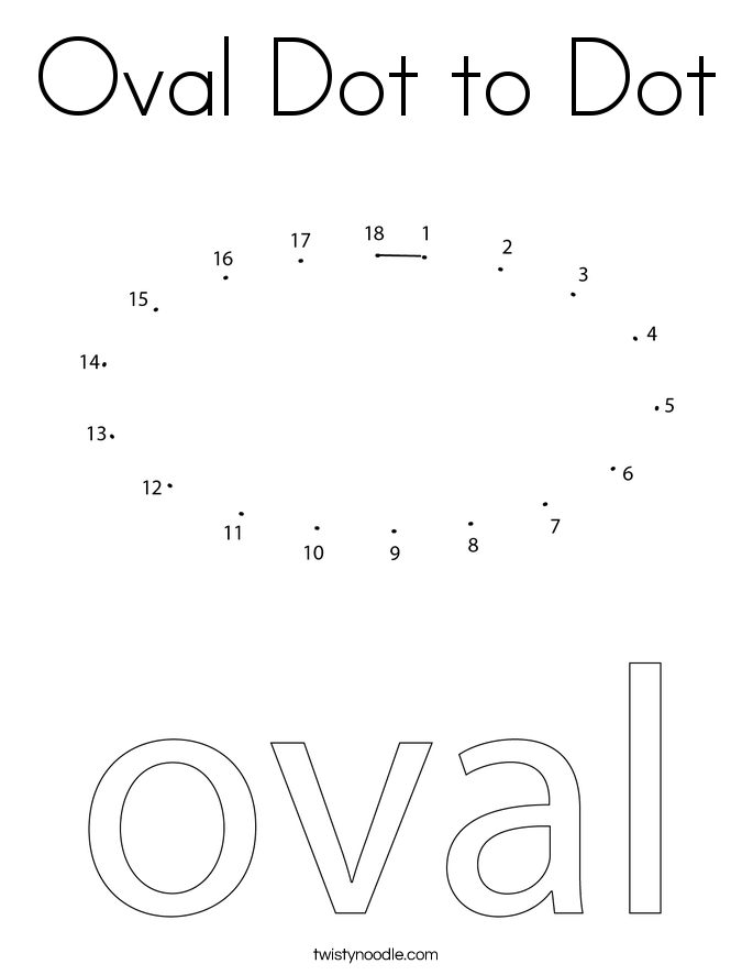 Oval Dot to Dot Coloring Page