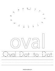 Oval Dot to Dot Handwriting Sheet