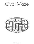 Oval Maze Coloring Page