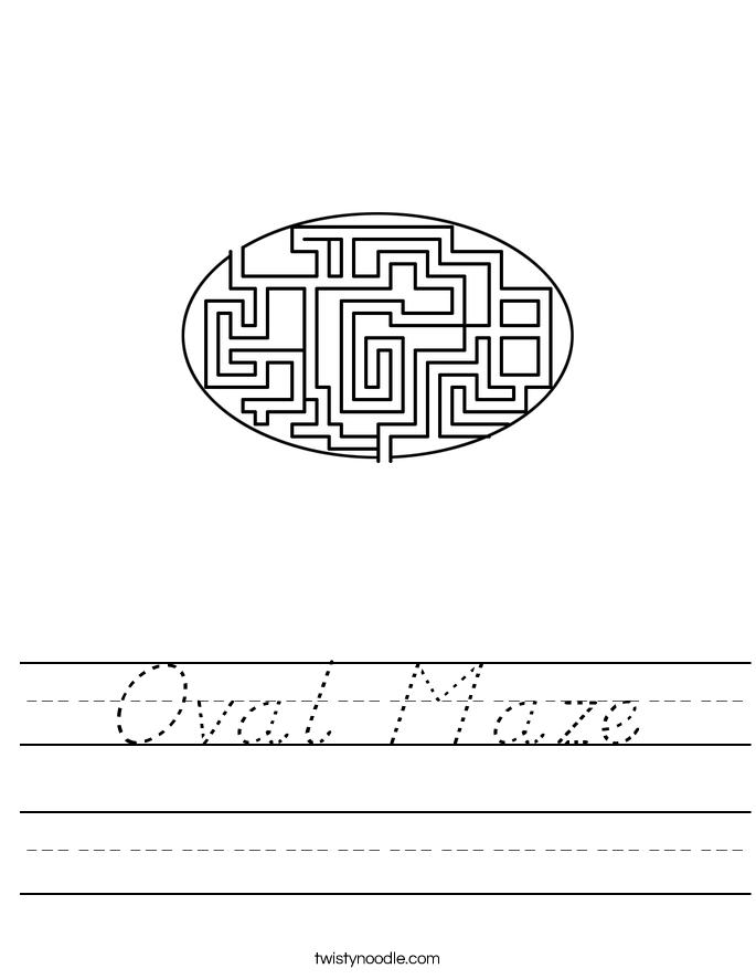 Oval Maze Worksheet