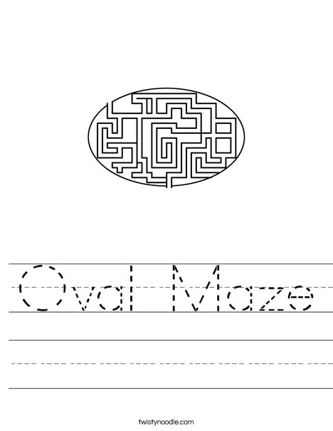 Oval Maze Worksheet