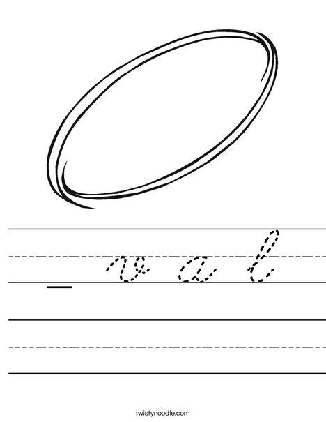 Oval Worksheet