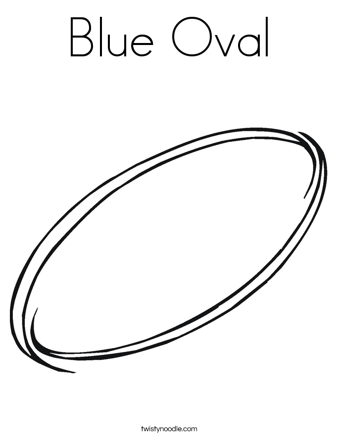 Blue Oval Coloring Page