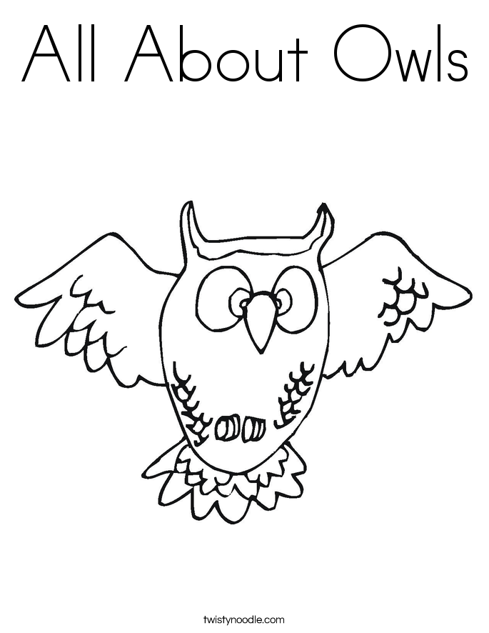 All About Owls Coloring Page