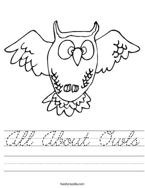 Flying Owl Worksheet