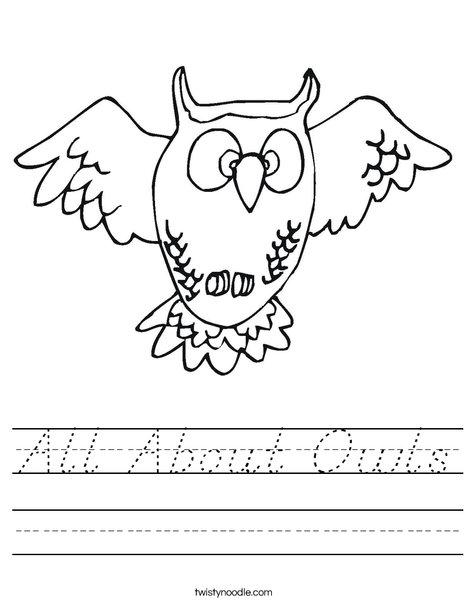 Flying Owl Worksheet