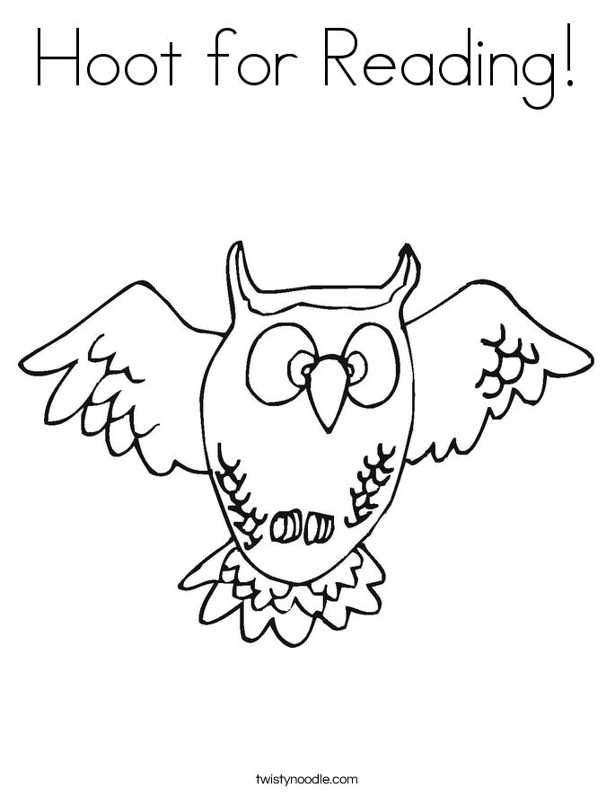 Hoot for Reading! Coloring Page