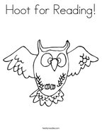 Hoot for Reading Coloring Page