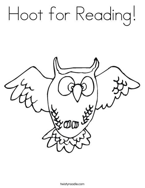 Hoot for Reading Coloring Page Twisty Noodle