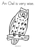 An Owl is very wise.Coloring Page