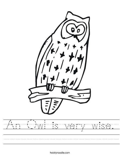Owl Worksheet