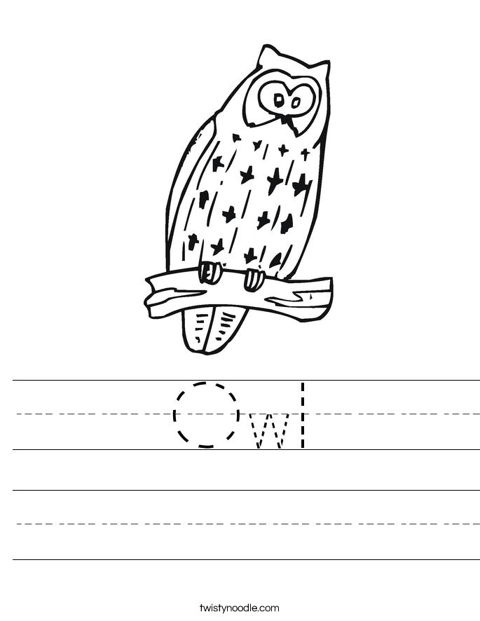 Owl Worksheet
