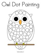 Owl Dot Painting Coloring Page