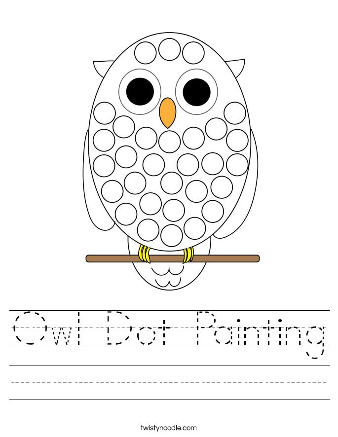 Owl Dot Painting Worksheet