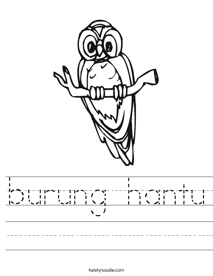 burung hantu Worksheet