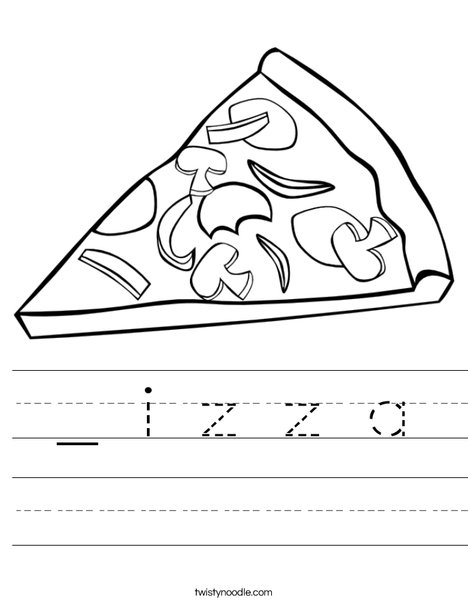 P is for Pizza Worksheet