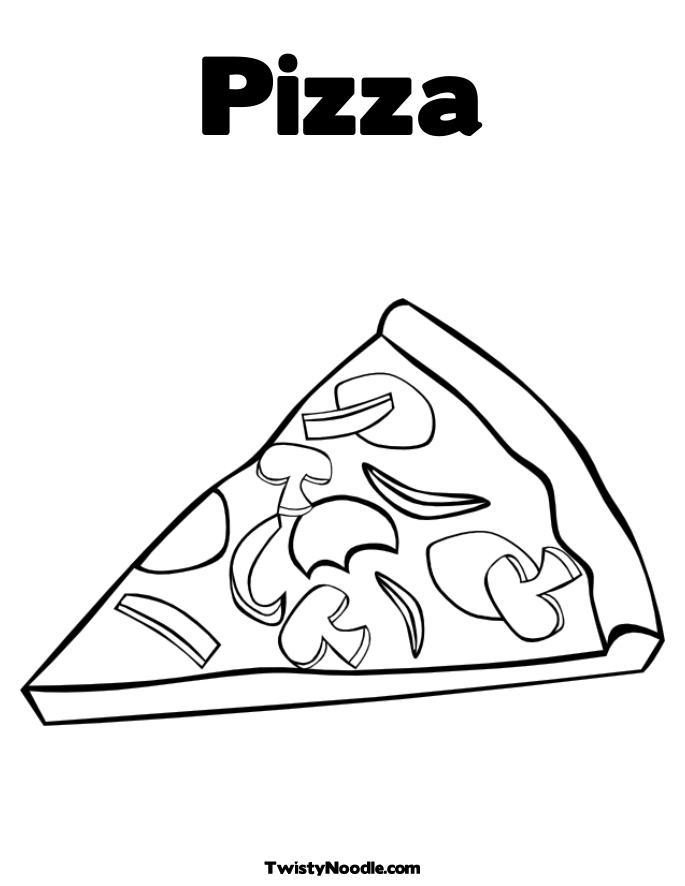 Slice Pizza Coloring Printables Coloring Pages Coloring Pages Of Pizza